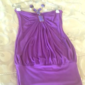 Purple cute dress with purple and gold accents